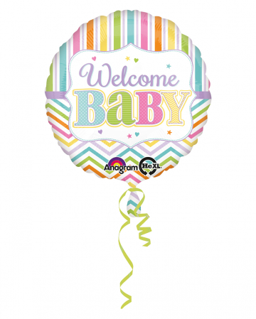 Welcome Baby Foil Balloon 43cm