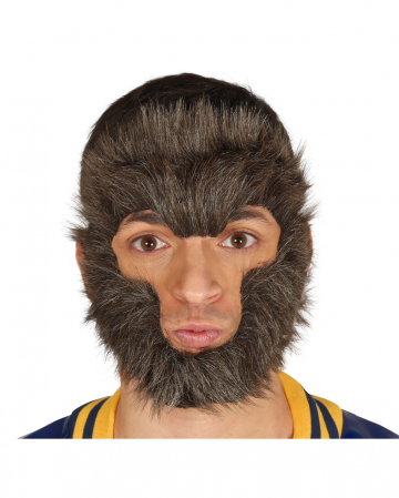 Werewolf Fur Mask With Rubber Band