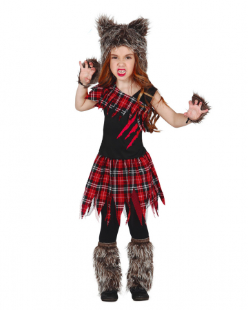 Scottish Wolf Girl Child Costume