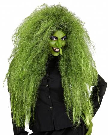 Wilde Hexen Perücke Grün