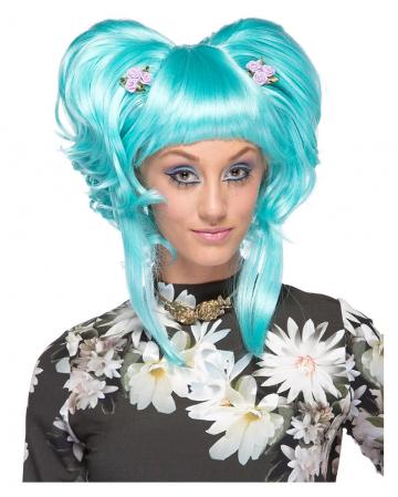 Ladies Wig Yuki light blue