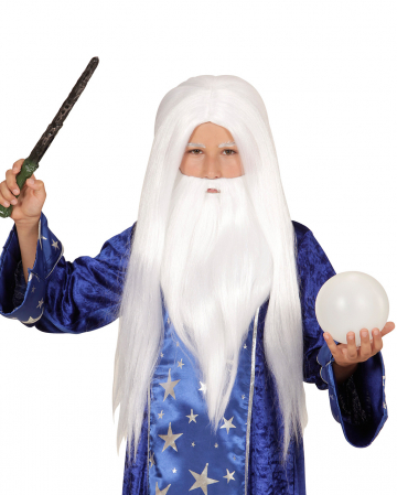 Magic Wig With White Beard For Children