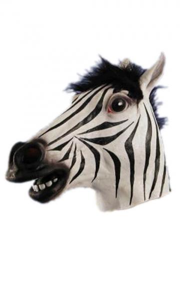 Zebra Latexmaske
