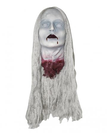 Zombie Frauenschädel mit Haaren