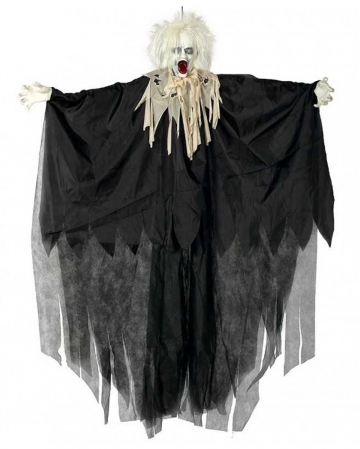 Zombie Hanging Figure With Hair & Light