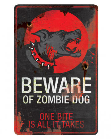 Zombie Dog warning sign
