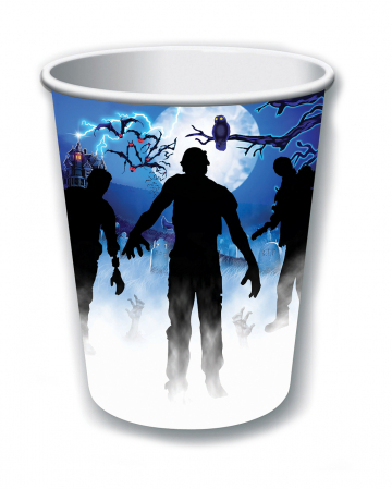 Zombie Party Pappbecher Set 8 Stück