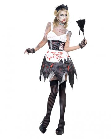 Zombie Zimmermädchen Kostüm