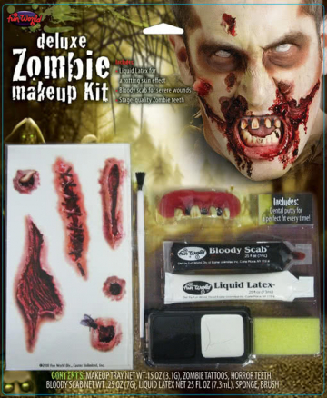 Zombie Make-up Kit Deluxe 8-teilig