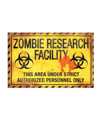 Zombie laboratory metal plate