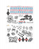 Birds Of Prey - Harley Quinn Tattoo Set 40 Pieces