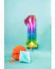 Foil Balloon Number 1 Rainbow