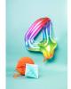 Folienballon Zahl 4 Regenbogen