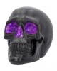Geode Totenkopf mit Violettem Gothic Glitzer