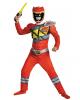 Power Ranger Red Ranger Dino Charge Muskelkostüm