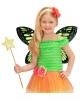Schmetterlingsflügel Schwarz/Grün Kindergröße