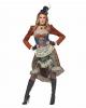 Steampunk Costume Dress With Mini Hat