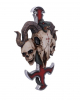 Devil Cross With Ram Skull & Snake