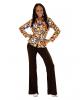 70s Groovy Kostüm Bluse Bubbles