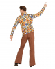 70s Groovy Kostüm Hemd Bubbles