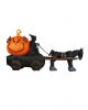 Inflatable Grim Reaper With Pumpkin Carriage