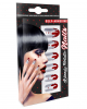 Bloody Metallic Fingernails 12 Pcs.
