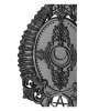 Gothic Hand Mirror With Baphomet Horns