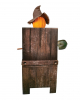 Grinsende Kürbis Vogelscheuche Halloween Animatronic