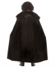 Medieval Velvet Cape With Faux Fur