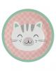 Cute Animals Paper Plate 23 Cm 8 Pcs.