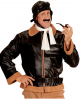 Retro Pilot Jacket With Cap & Scarf