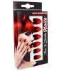 Stileto Fingernails Black / Red 12 Pcs.