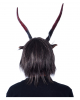 Horned Krampus Mask With Artificial Fur