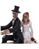 Skelett Brautpaar auf Fahrrad 14,5cm