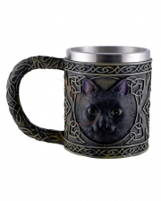 Celtic Jug With Black Cat Motif