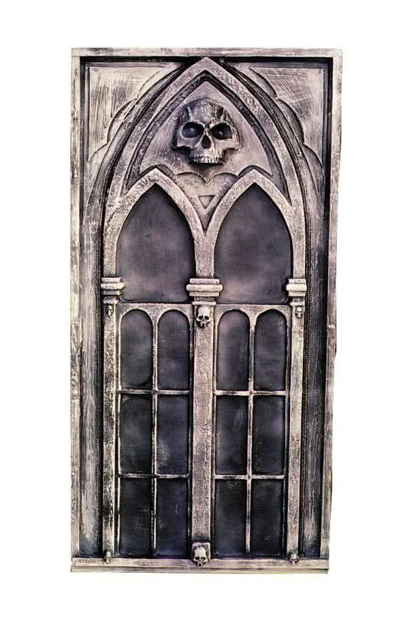 gothic deko window halloween scenes construction. Black Bedroom Furniture Sets. Home Design Ideas