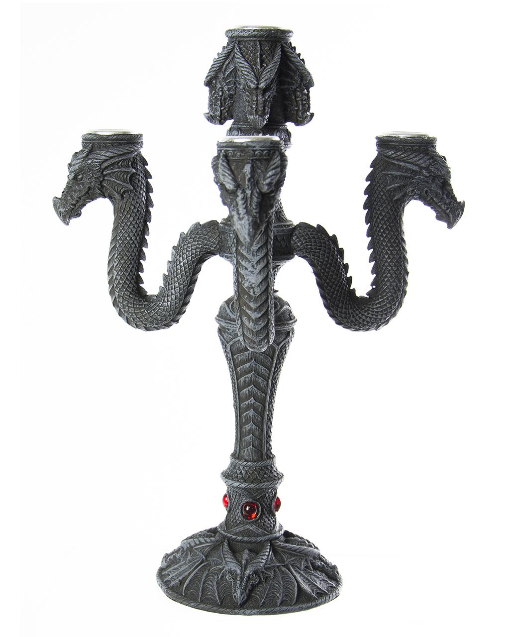 5 Armiger Kerzenleuchter : 5 armiger kerzenleuchter drache tisch dekoration horror ~ Frokenaadalensverden.com Haus und Dekorationen