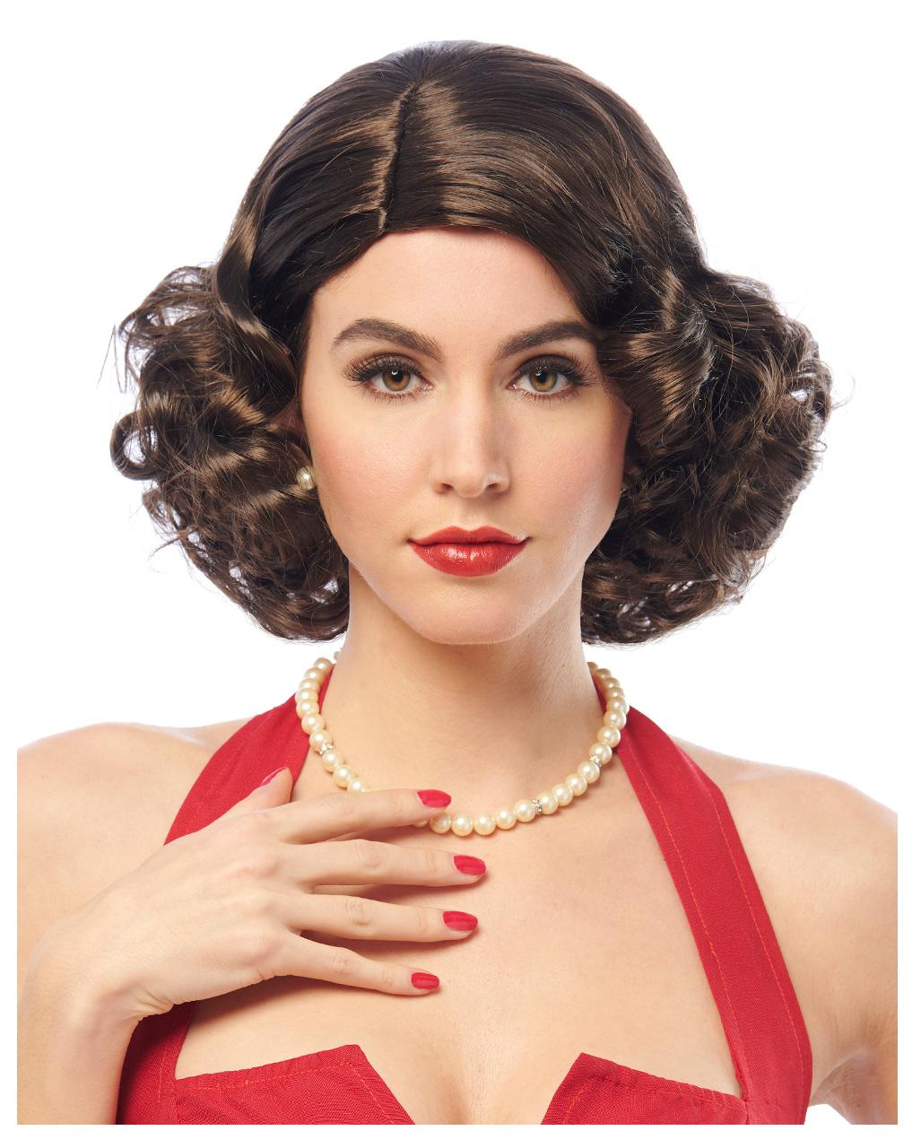 Perücke rot Glam Damenperücke Glamour Damen Perücken