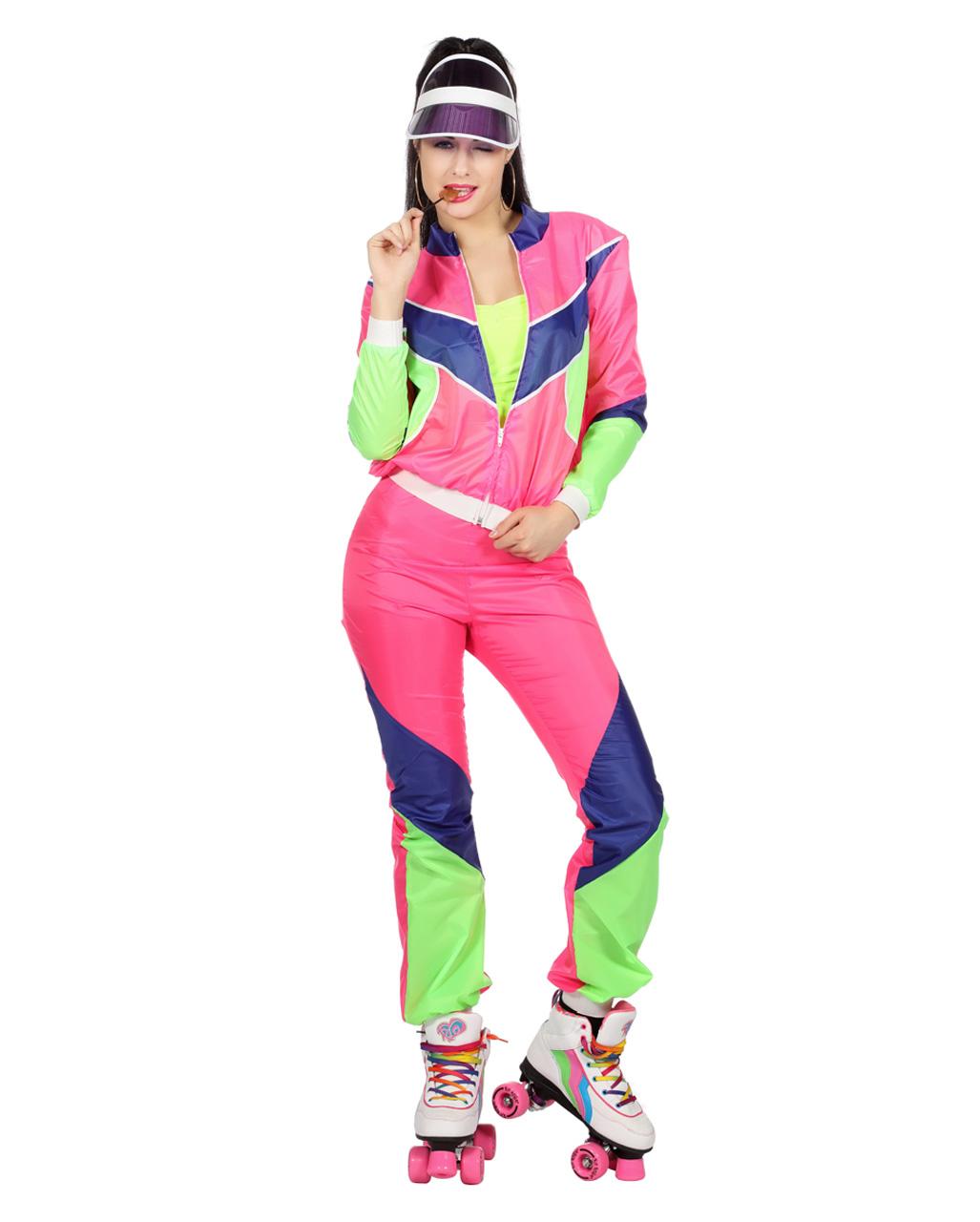 80s Tracksuit Ladies Costume buy online   horror-shop.com