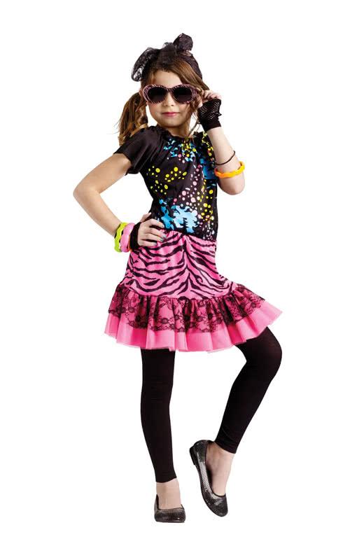 80 s pop girl children 39 s costume cool pop star costume. Black Bedroom Furniture Sets. Home Design Ideas