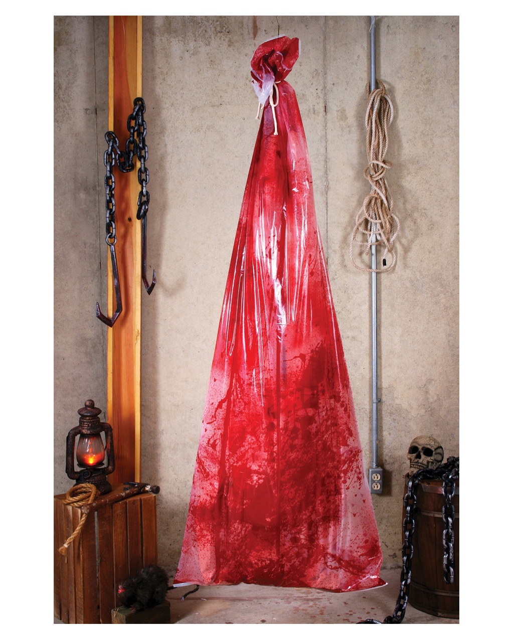 Inflatable body bag halloween decoration horror for Bag decoration ideas
