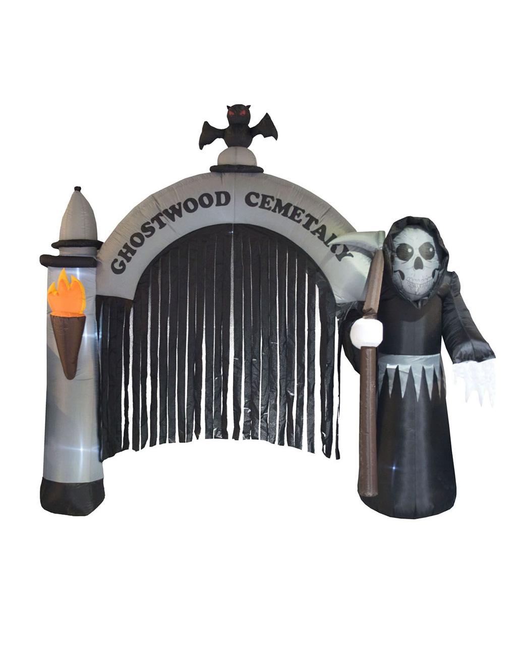 Aufblasbares Halloween Friedhofstor Bestellen Horror Shop Com