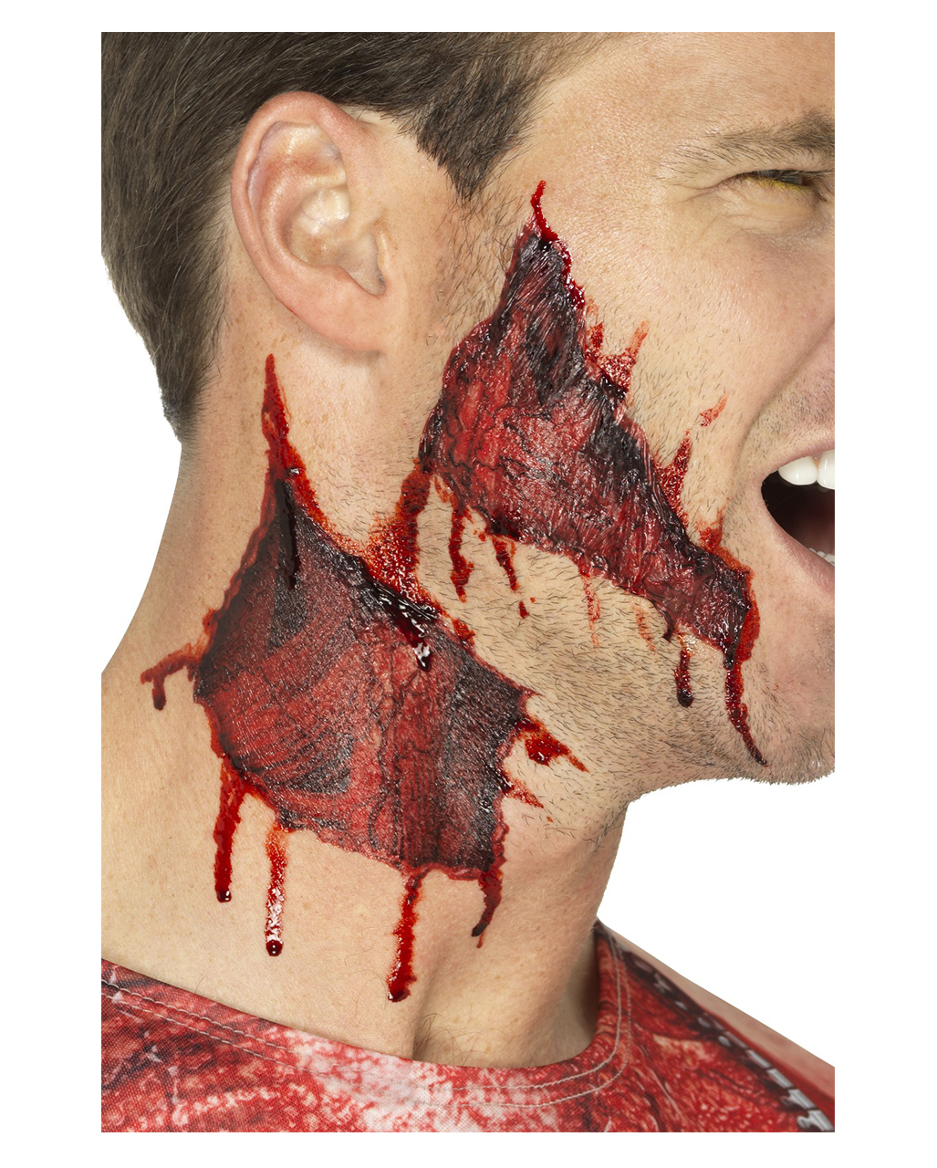 Torn skin adhesive tapes for halloween horror for Tattoo on fake skin