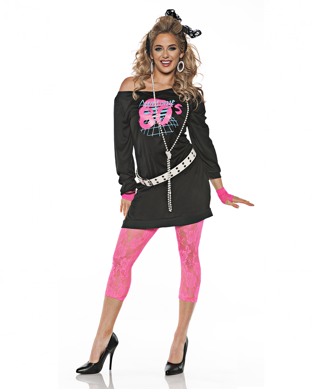 awesome 80s costume for 80s party horror. Black Bedroom Furniture Sets. Home Design Ideas