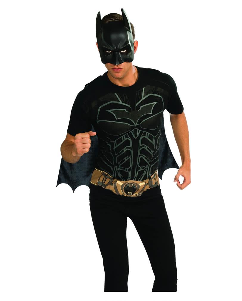 batman shirt mit maske the dark knight verkleidung f r erwachsene horror. Black Bedroom Furniture Sets. Home Design Ideas