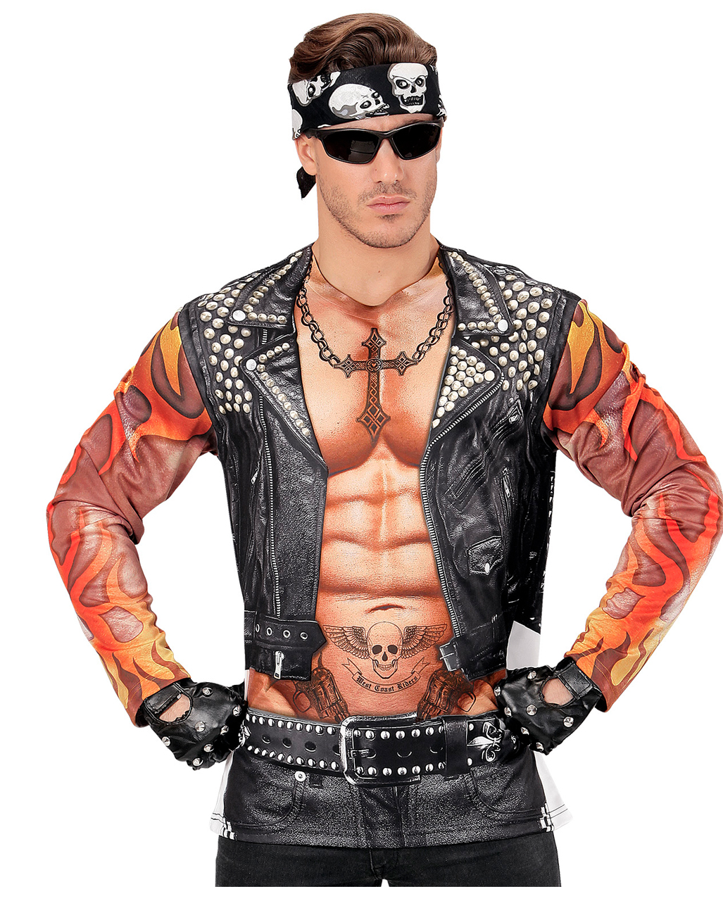 Men S Fancy Dress Fancy Dresses Men S Fancy Dress Men Costume Long Tshirt Biker Tattoo Realistic Fancy Dress Ladiescorner Co In