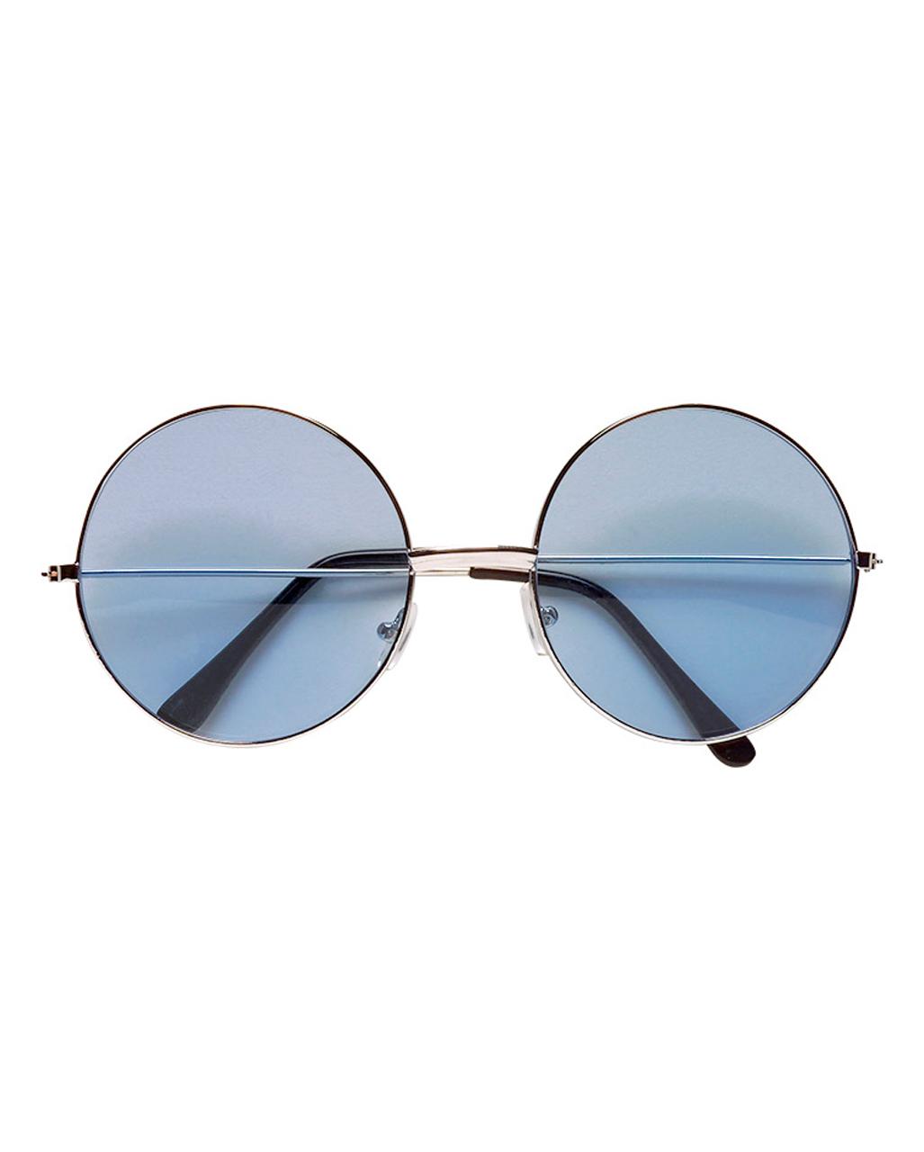 blaue 70er sonnenbrille als hippiebrille horror. Black Bedroom Furniture Sets. Home Design Ideas