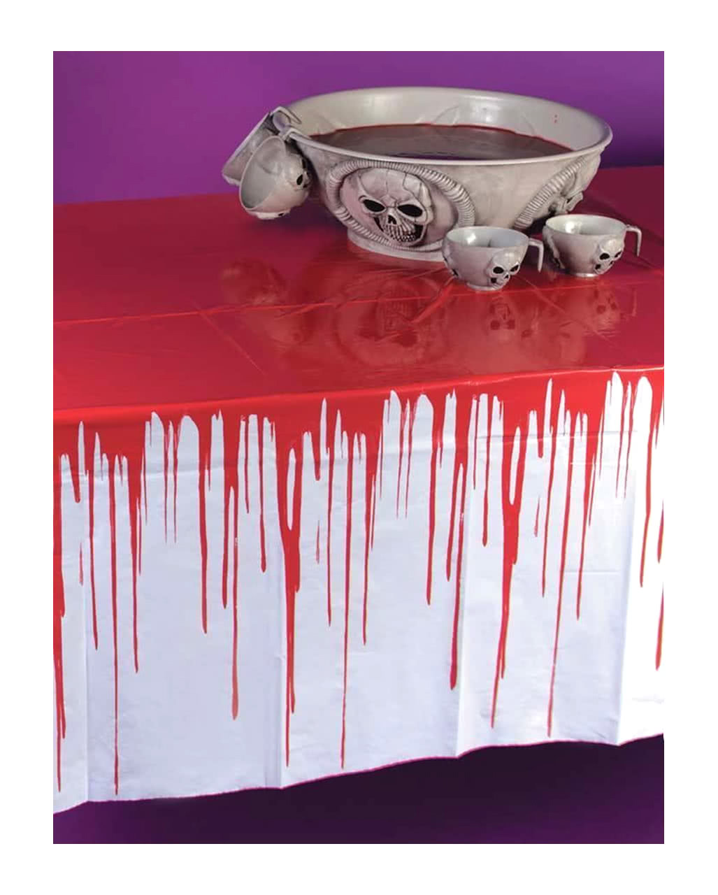 5 X Halloween Blood Stained Table cloth Fancy Party Table Cover Tableware Creepy