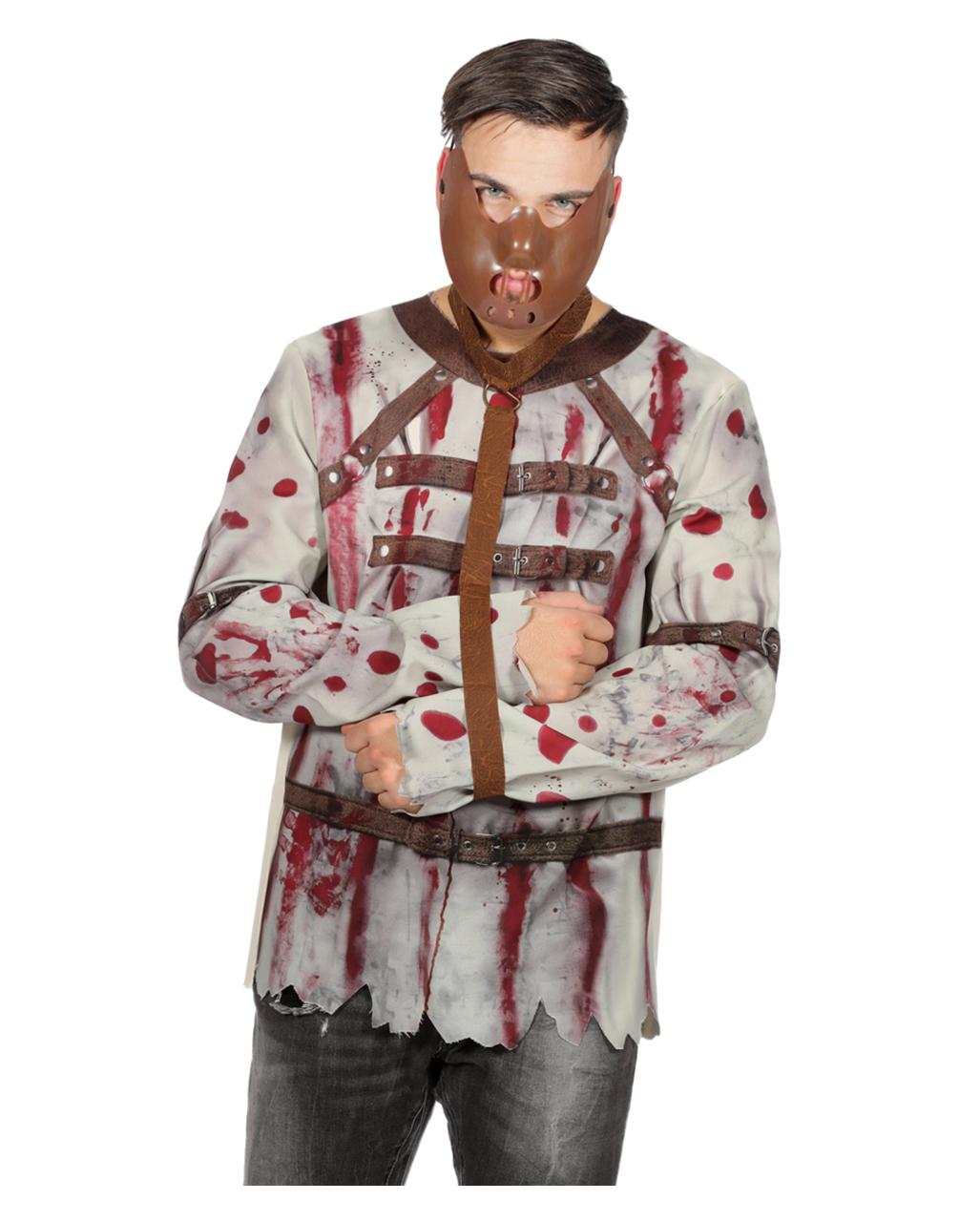 Halloween Shirt V-NECK WOMENS T-Shirt Bloody Zombie Costume Dead Hands
