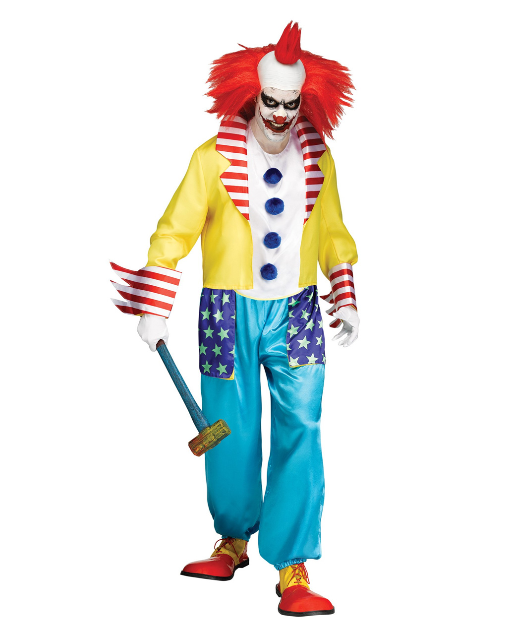 wicked clown halloween costume for horror parties horror. Black Bedroom Furniture Sets. Home Design Ideas